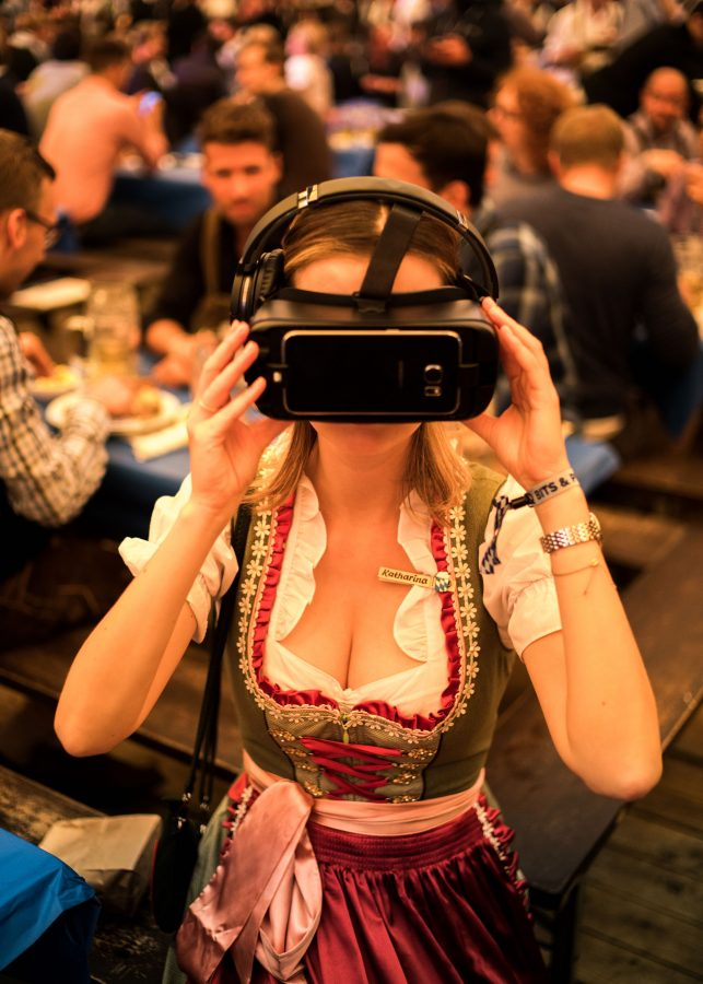 It was also a big tech conference. You can virtually see this gal is reality.