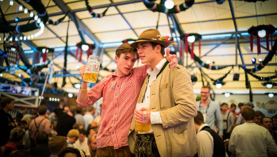 Two revelers at Oktoberfest. Apparently, there seems to be no age limit there!